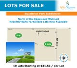 10 Edgewood Lots for Sale