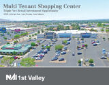 NNN Retail Power Center with Ground Lease For Sale